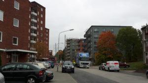 2016-10-14 Hus 1, 2, 3 t.h. och hus 4 skymtar t.v.