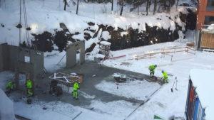 2016-11-10 Hus 5 - Snöskottning - Väggar på gång
