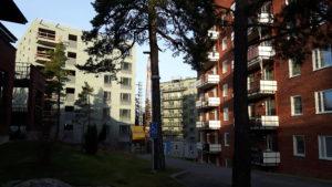 2016-12-22 Hus 5 (t.v.) och 3 sedda från Sylvestergatan (43:an t.h.)