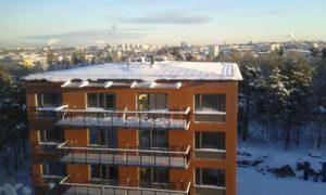 2017-01-06 Snö och kyla - Utsikt över hus 2