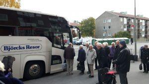 2017-10-31 Ålandsresa - Mikael har kört fram bussen - Dags för avfärd mot Kapellskär.