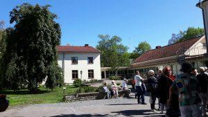2018-08-21 Samling inför lunch och båtfärd